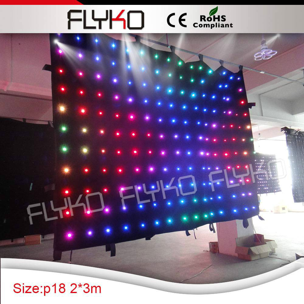 Free shipping p18cm best soft led backdrop decoration for wedding or stage(China (Mainland))