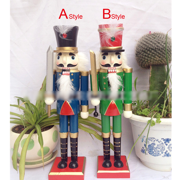 HT058 free shipping toy 36CM fine painted nutcracker, walnuts man novelty ornaments Christmas gift wooden painted crafts<br><br>Aliexpress