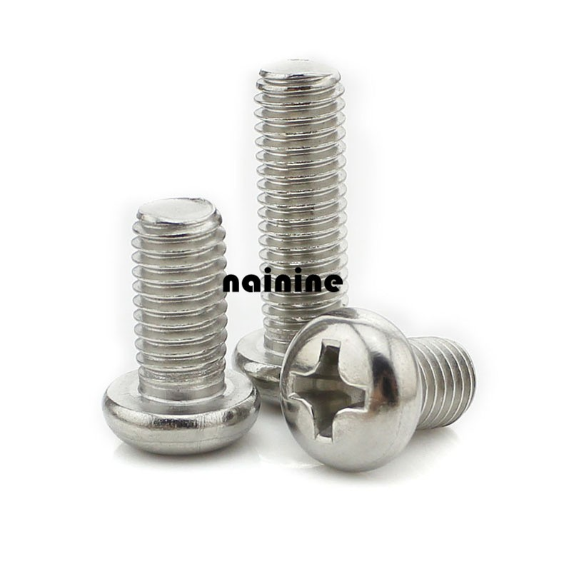 55pcs M3*5mm stainless steel Phillips screws Phillips round head screws hw02019(China (Mainland))