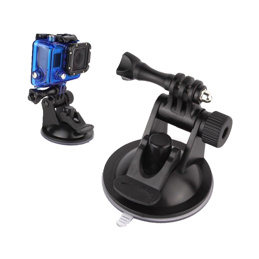 Hot Car Vacuum Suction Cup With Built-in Adapter Mount For GoPro Camera Hero 4 3 3+ 2 1 Sjcam Sj4000 5000 6000 Sport(China (Mainland))
