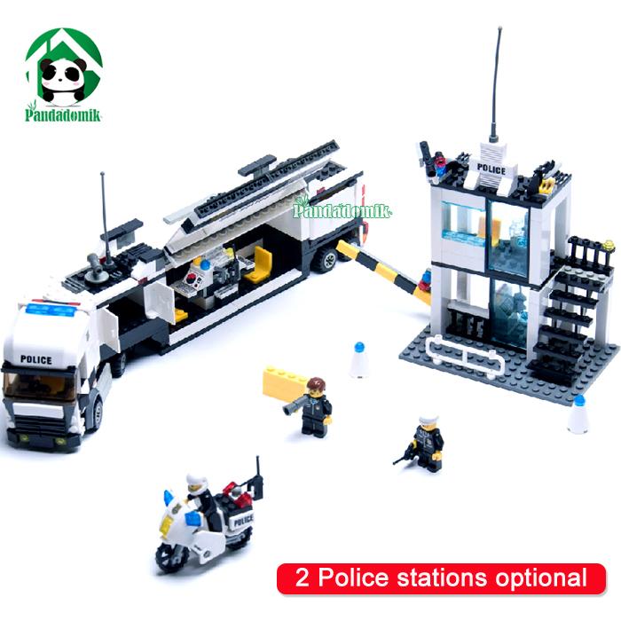 Police Station Building Blocks 511pcs Bricks Educational Toys Model Building Kits Compatible with lego City Truck Car Kids Toys(China (Mainland))
