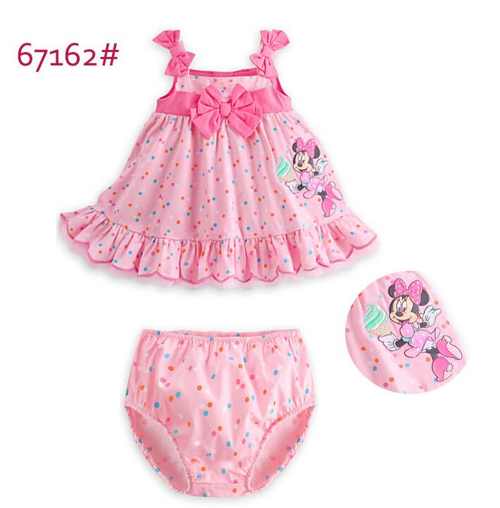 2015 new cute girls Sling Minnie bow dress kids lovely princess party dress children summer dresses in stock(China (Mainland))