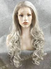 CWN5CT4503/1001 Stunning Kim Kardashian Long Wave  Rupaul Gray Synthetic Lace Front Wig