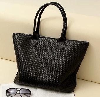 2015 Hot Selling Women's Handbag Pu Leather Tote Shoulder Bag Large Capacity Weave Messenger Bags Fashion Designer Free Shipping(China (Mainland))