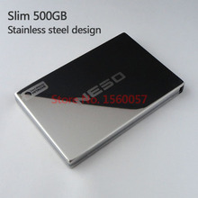 Free shipping NESO Slim Mobile HDD 500G External Hard Drive Wholesale 2.5'' Portable Hard Disk USB2.0 Stainless steel design(China (Mainland))