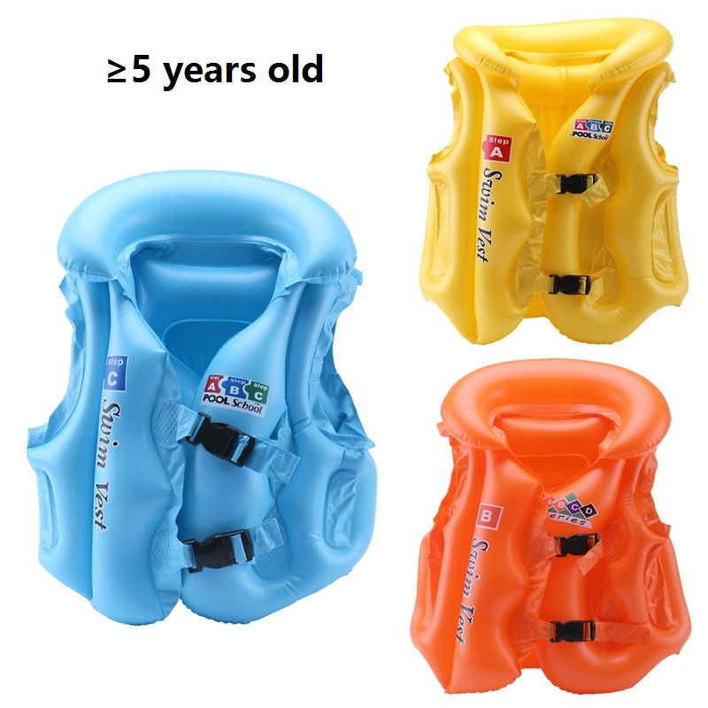 Adjustable Children Kids Inflatable Pool Toy Float Life Vest Swimsuit Child Swimming Suit Safety Vest Jacket For Children Over 3(China (Mainland))