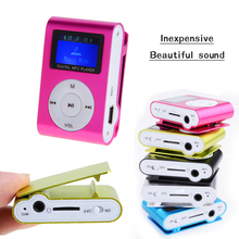10 Pcs Wholesale New LCD Screen Metal Mini Clip MP3 Player with Micro TF/SD Slot Support 32GB Micro SD TF Card 5 colors music(China (Mainland))
