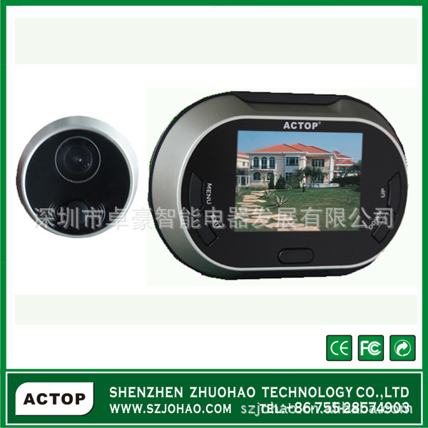 Cat's Eye color visualization / visual doorbell / electronic doorbell doorbell intelligent electronic cat(China (Mainland))