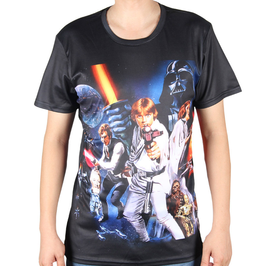 new summer mens t shirts 3d printed star wars tee shirt superman avengers tshirts o neck retro. Black Bedroom Furniture Sets. Home Design Ideas