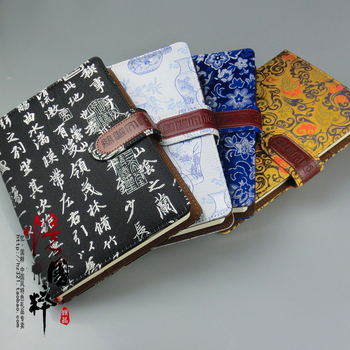 Silk tapestry notebook chinese style unique practical gifts quality notepad