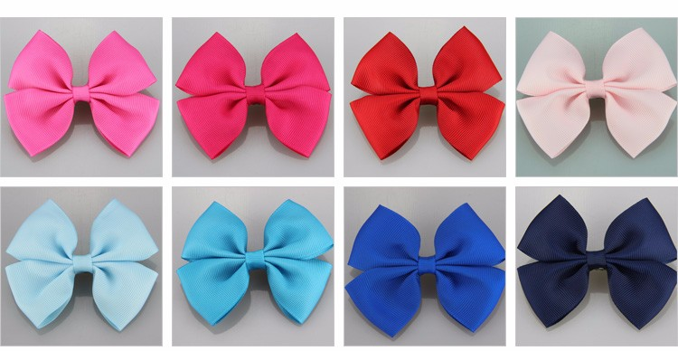 5 Pcs/lot New Fashion Lovely Print Solid Dot Animal Bowknots Headwear For Baby Girls Polyester Headpins Children FS028