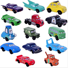 High Quality PVC  Cars Pixar  Figures Toy Cars Toys 2 Full Set for Gift Free Shipping 14pcs/lot(China (Mainland))