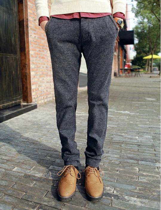 mens casual wool pants - Pi Pants