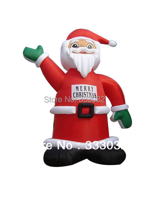 FREE SHIPPING 2014 New Arrival Grand inflatable santa claus de navidad 6m height Christmas outdoor decoration great sale(China (Mainland))