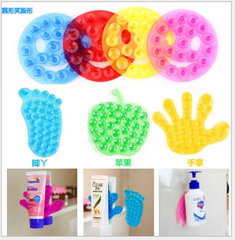 5pcs/lot New Strong Double Sided Suction Palm PVC Suction Cup, Double Magic Plastic Sucker Bathroom(China (Mainland))