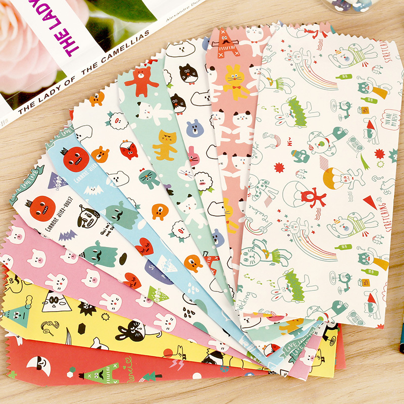 100 Cartoon Time Paper Envelopes,Gift / Letter / Greeting Card / Lucky Money Envelopes (S0716I)(China (Mainland))