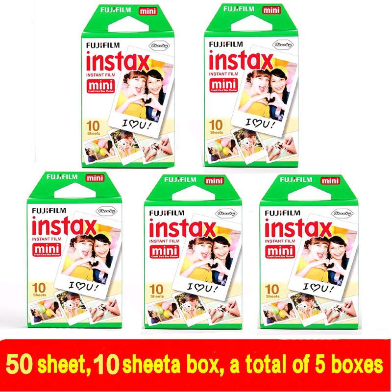 50 sheet Fujifilm Fuji Instax Mini 8 film for Fujifilm Instant Mini 7s 25 50s 90 Camera Fuji Instax White Edge Photo film Paper(China (Mainland))