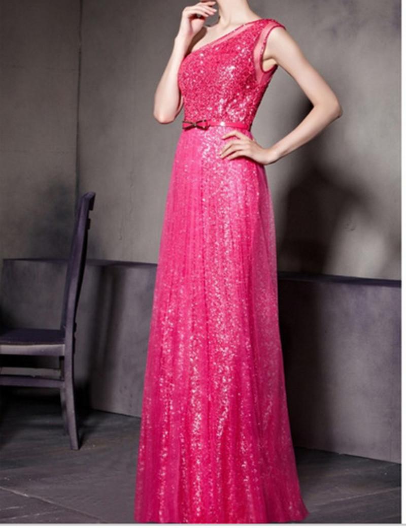 Elegant Evening Gowns Summer Evening Vestidos 2016 Elegant Party Sequin Dress Prom Sexy Dress Robe Longue Boho Maxi Dress DYF36