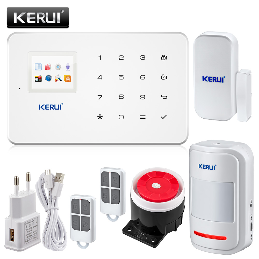 Original KERUI G18 Super Thin GSM Alarm Systems Android IOS APP Alarms Home Security System(China (Mainland))