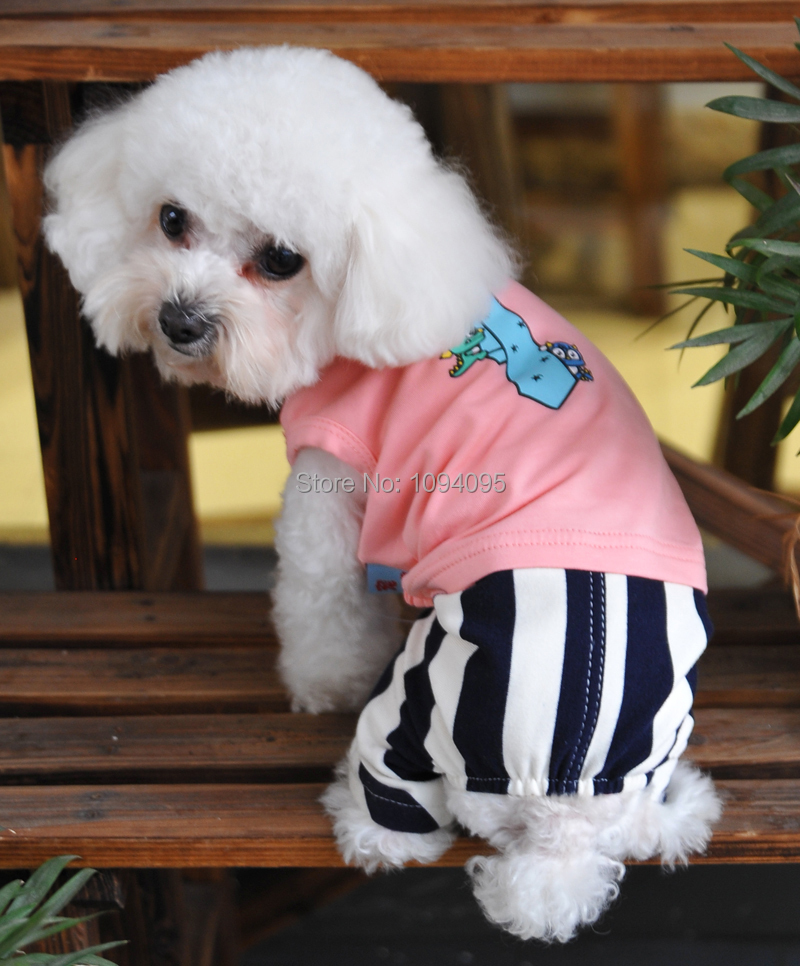 top selling 100% cotton pet suit for Spring and summer,free shipping dog suit(China (Mainland))