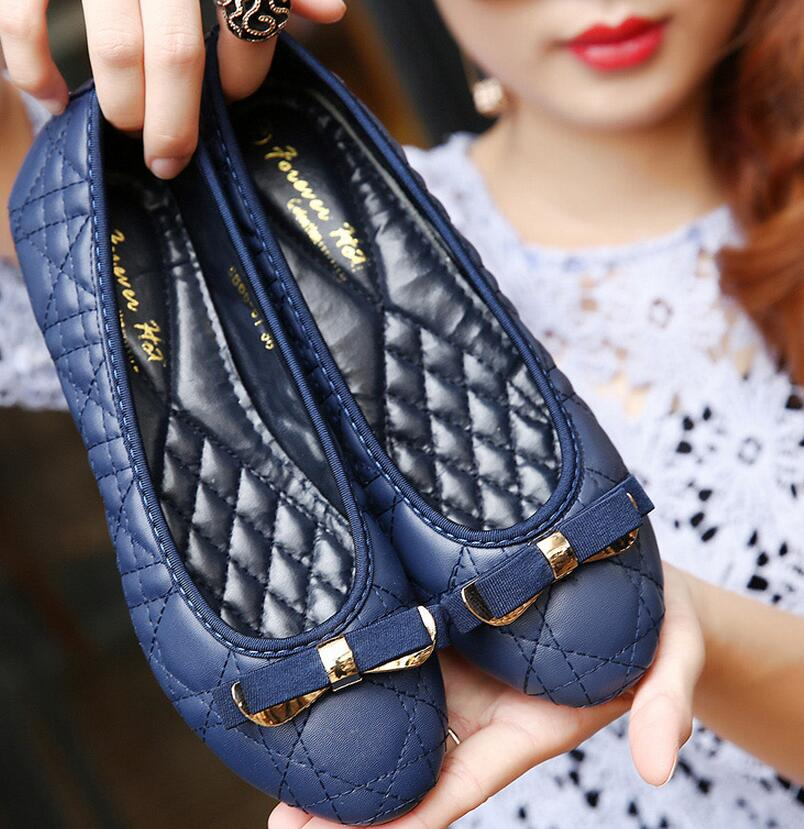 2016 New Women flat casual shallow mouth square shoes retro with flat shoes Women's Flat shoes women's shoes size 35-42