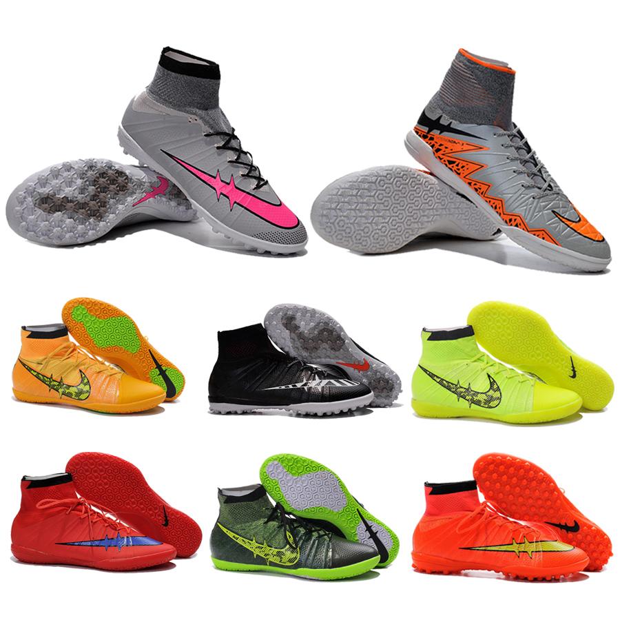 2015 nouvelle marque haute cheville chaussures de soccer for Chaussure de soccer interieur