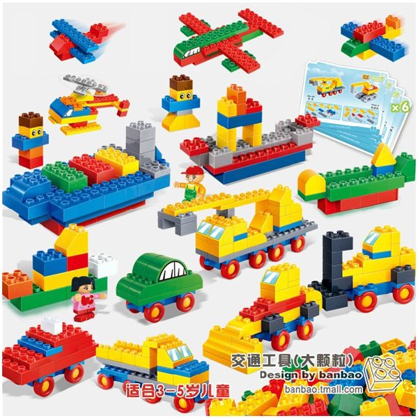 Фотография Banbao 6502 175 pcs Transportation DIY Preschool Plastic Building Block Sets Preschool Educational block Toys for kindergarten