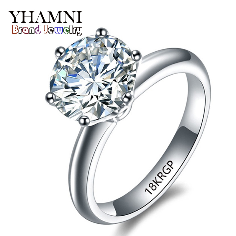original Ring Gold Jewelry With 18KRGP Stamp Gold Rings 8mm 2 Carat SONA CZ Diamond Gold Plated Wedding Rings For Women R1688(China (Mainland))