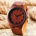 Casual Nature Wood Bamboo Genuine Leather Band Strap Wrist Watch Men Women Cool Analog Bracelet Gift relojes de pulsera