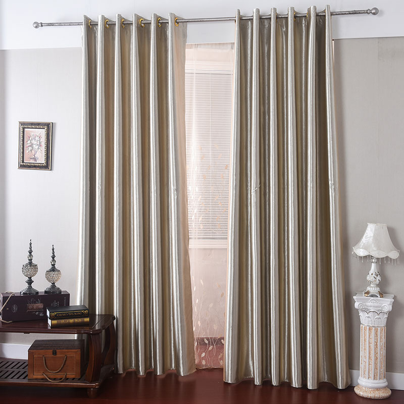 2016 modern solid color blackout chic satin curtain bedroom customized
