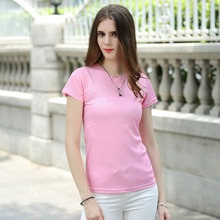 Buy LUBI New Arrival light pink T-shirt Lady 2017 Simple Casual Tee Leisure Thin Breathable Short Sleeve T Shirts Women Tops Tee for $28.55 in AliExpress store