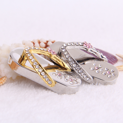 HOT! Promotion Stock Bracelet 100% Real Capacity Usb Flash Drive Jewelry Best Selling Crystal Diamond Slipper 2.0 free Shipping(China (Mainland))