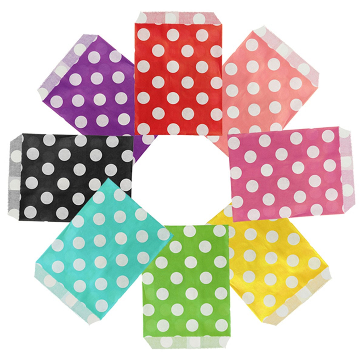 25Pcs Bold Dot Paper Bag Sugar Cookie Gift Bags Eco-Friendly Holder Birthday Party Paper Bags Party Gift For Guest Baby Shower(China (Mainland))