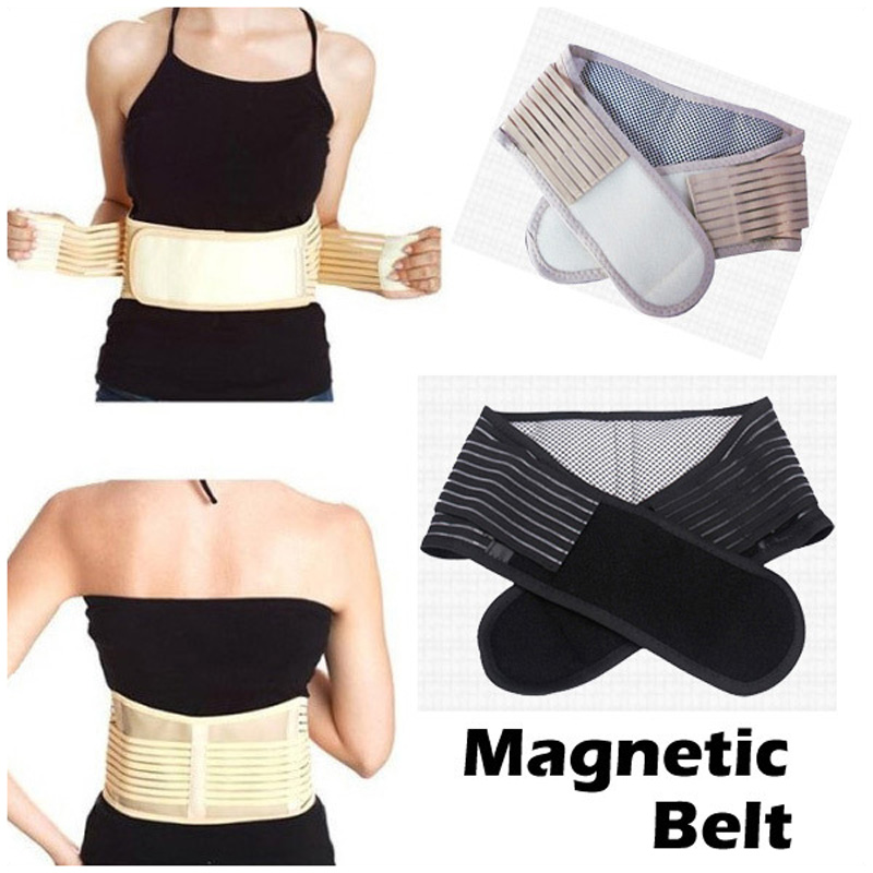 Health Care Magnetic Slimming Lower Back Support Waist Lumbar Brace Belt Strap Backache Pain Relief Free