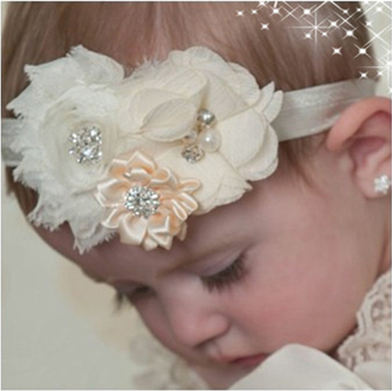 13 color Newborn Baby Girls Satin Ribbon Flower Headbands Photography Props Infant Baby Headband children Accessories A311(China (Mainland))