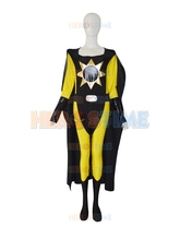 Yellow & Black Sun Spandex Custom Superhero Costume halloween cosplay costumes the most popular zentai suit   free shipping