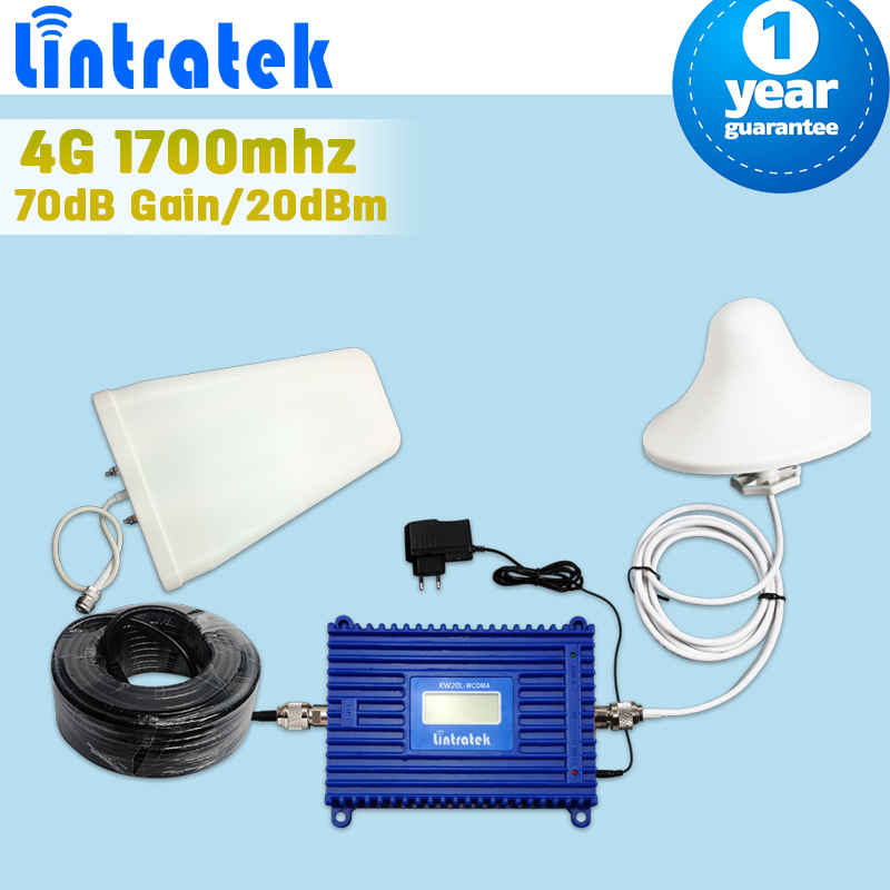 Full Set 3G 4G LTE 1700 FDD Band 4 Cellphone Signal Booster 70dB Gain GSM UMTS 1700mhz Mobile Cellular Repeater Amplifier(China (Mainland))