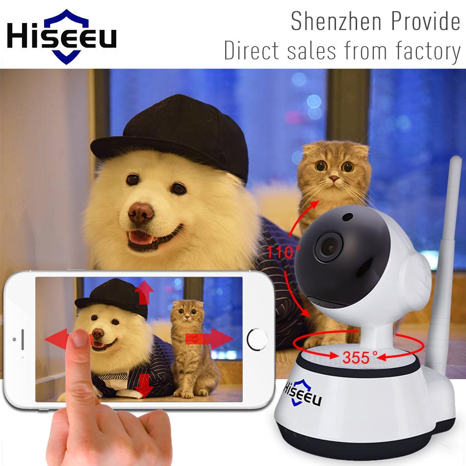 IP Camera WiFi Wireless Smart Security Camera Micro SD Network Rotatable Defender Home Telecam HD Cctv IOS PC Hiseeu FH2A(China (Mainland))
