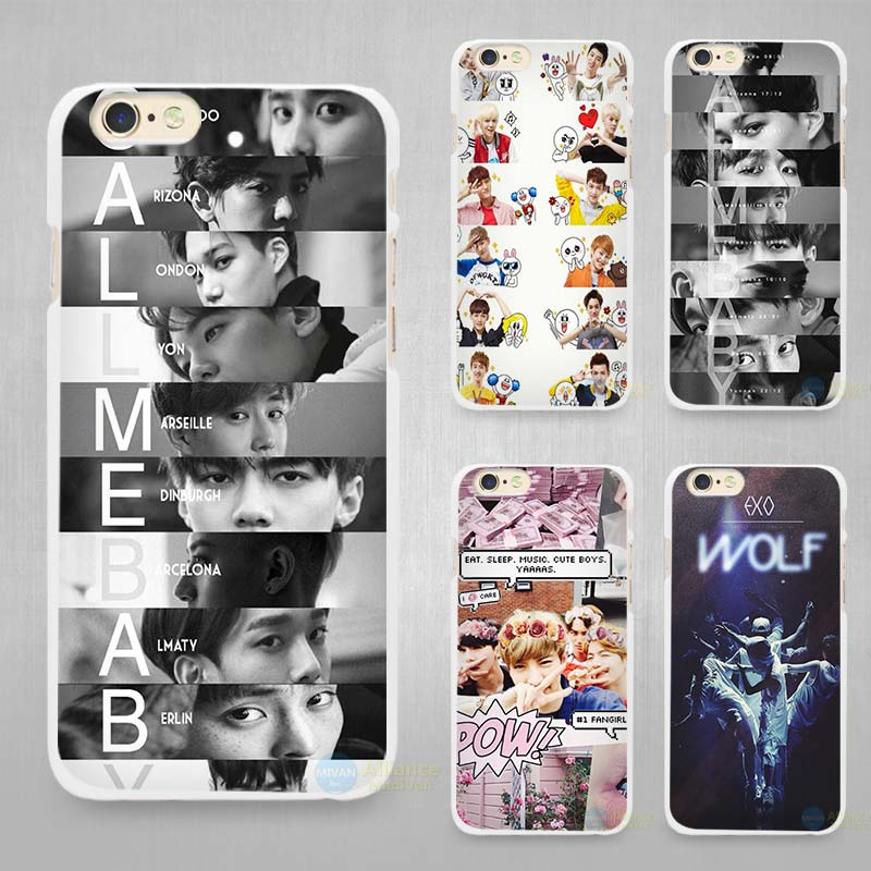 EXO baekhyun Hard White Cell Phone Case Cover for Apple iPhone 4 4s 5 5C SE 5s 6 6s 7 Plus(China (Mainland))