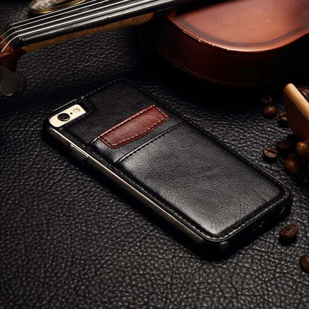 Luxury Brands Skin PU Leather Case For iPhone 6 6s plus 5 5S SE with Card Holder Back Cover Back Case Unique Design + Free Film