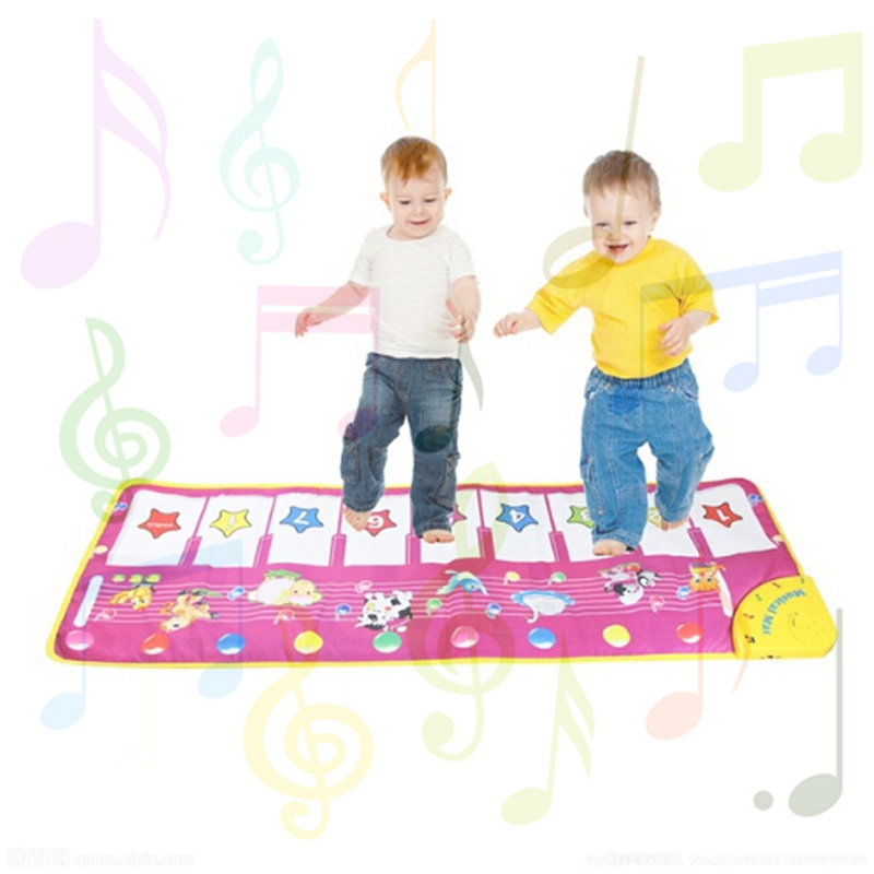Animal Pattern Baby Touch Play Keyboard Musical Toys Music Carpet Mat Blanket Early Education Tool Toys AY882035(China (Mainland))