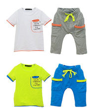 Hots 3 Color Boys Kids   set Playsuit  Clothes Summer Outfit(China (Mainland))