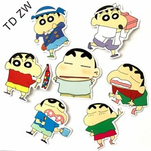Buy TD ZW 7pcs/lot Funny Japanese cartoon Crayon Shin-chan DIY vinyl stickers Luggage Suitcases Guitar Skateboard laptop stickers for $1.79 in AliExpress store