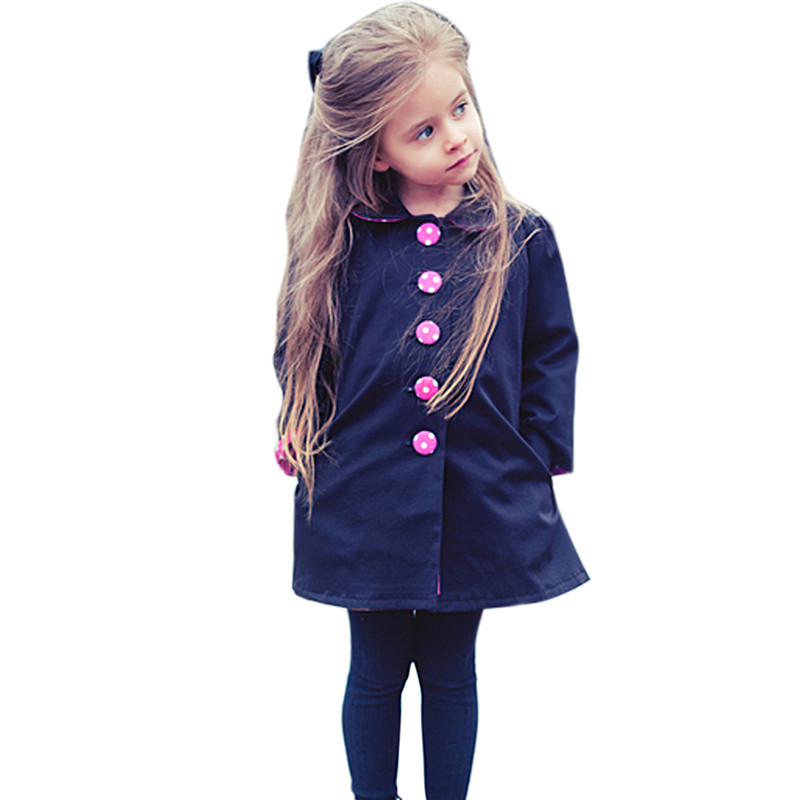 BS#S New Kids Baby Girls Autumn Long Trench Coat Wind Jacket Outwear FCI#<br><br>Aliexpress