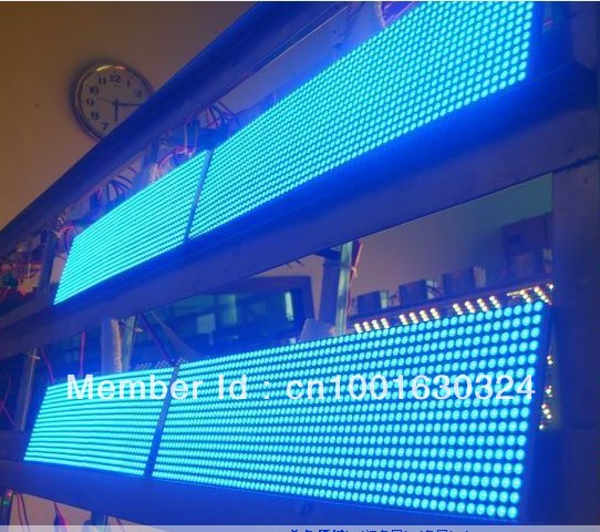 32dots x 16dots Pixel Pure Blue Led Module P10, Led Scrolling Message P10 Display for Outside Advertising(China (Mainland))