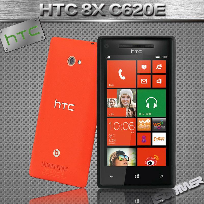 Original Unlocked HTC 8X C620e Cell phones Windows Phone 8 Dual-core 8MP Camera 16G Refurbished phone Russian Multi Language(China (Mainland))