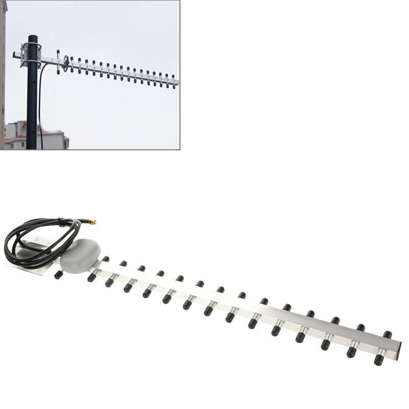 New High Gain WiFi Antenna 15 unit Yagi Antenna 18dbI N-Female Plug 2G 3G 1710-2170mhz Yagi outdoor Antenna for Booster Repeater(China (Mainland))