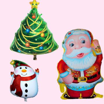 3pcs/lot Christmas decoration balloons christmas tree snowman Father Christmas decoration Santa Claus balloon supplies <br><br>Aliexpress