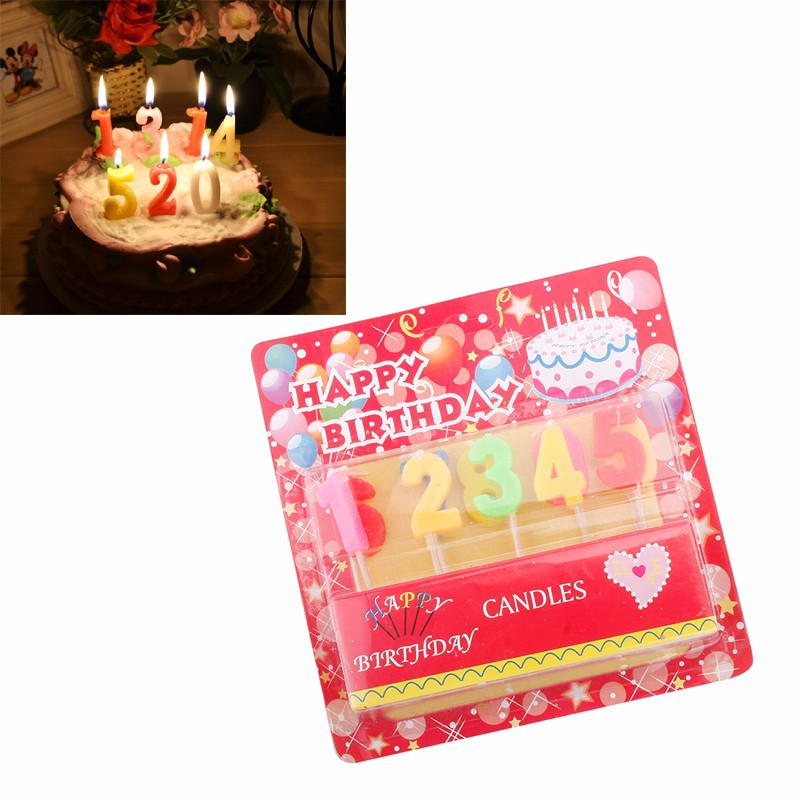 2019 Lovely New Birthday Cake Age Number Candle Party Celebrate