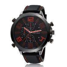 Caliente venta V6 hombres de la marca de moda reloj del silicón del deporte exterior para hombre de cuarzo relojes militares reloj grande del Dial Horloge